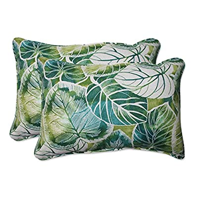 Pillow Perfect Outdoor/Indoor Key Cove Lagoon Over-Sized Rectangular Throw Pillow (Set of 2) - Includes two (2) outdoor pillows, resists weather and fading in sunlight; Suitable for indoor and outdoor use Plush Fill - 100-percent polyester fiber filling Edges of outdoor pillows are trimmed with matching fabric and cord to sit perfectly on your outdoor patio furniture - patio, outdoor-throw-pillows, outdoor-decor - 51Xsqg73ZqL. SS400  -