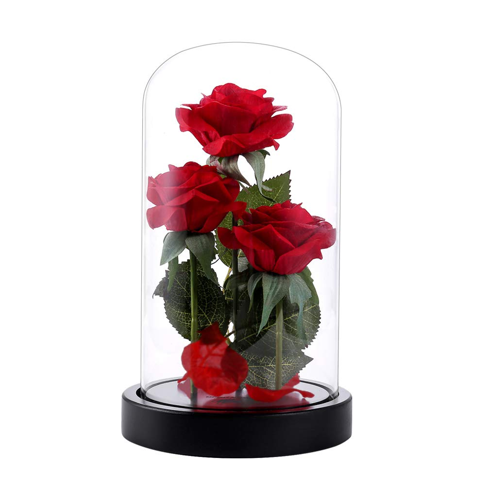 Die Schöne und das Biest Rosen-Set, Valentinstag Geschenk ,Hochzeitsgeschenk ,Mutter Tag Geschenk Dream of Flowers MZH-017