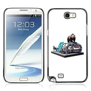 YOYOSHOP [Bear & Zebra On The Street] Samsung Galaxy Note 2 Case by icecream design