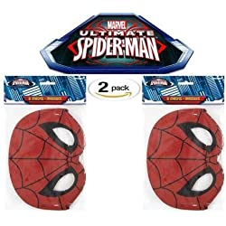 Spiderman Party Mask, 8 ct (Two Pack)