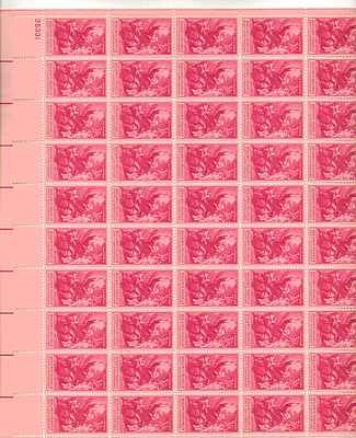 (Benjamin Franklin 250th Anniversary Sheet of 50 x 3 Cent US Postage Stamps NEW)