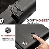"RPNB Portable Pistol Safe, Quick Access Pistol Biometric Fingerprint Firearm Lock Box - Handgun Case Black, Measures 11"" x 7"" x 2"", 5 Year Warranty"