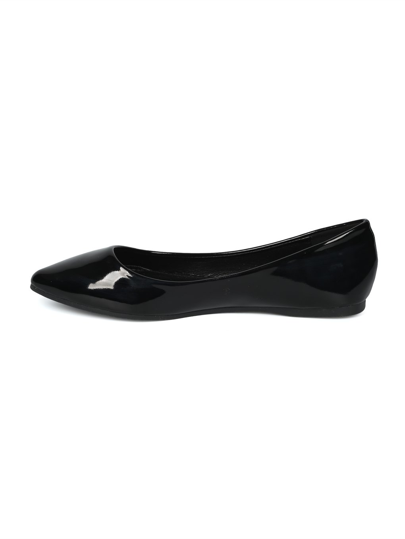 Alrisco Women Patent Pascal Leatherette Pointy Toe Ballet Flat HI07 B07D6ZVHKG 8 B(M) US|Black Patent