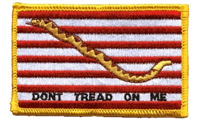 (1st Navy Jack iron-on embroidered patch)