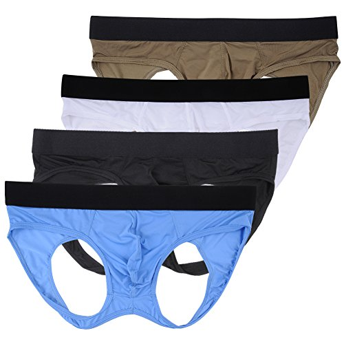 Nightaste Male Underwear Hollow-Out Hip Buttock Athletic Supporter JockStrap Underpants (M, 4 Colors)