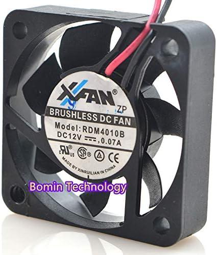 Bomin Technology for XFAN RDM4010B 12V 0.07A 2-Wire 4CM Cooling Fan