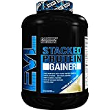 Evlution Nutrition Stacked Protein Gainer 7lb Protein Powder with 50 Grams of Protein, 10 Grams of BCAA's and 10 Grams of Glutamine (Vanilla Ice Cream)