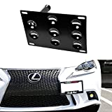 iJDMTOY Flush Design Front Bumper Tow Hole Adapter License Plate Mounting Bracket For Lexus 2006-up IS and 2011-up CT