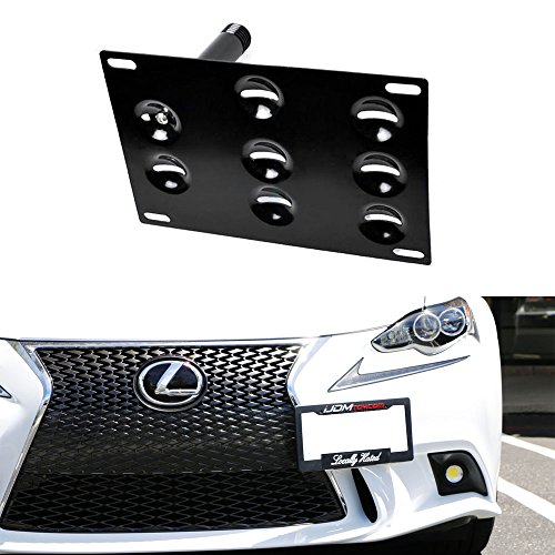 iJDMTOY JDM Style Front Bumper Tow Hole Adapter License Plate Mounting Bracket For Lexus 2006-up Lexus IS (excluding 2008-2013 IS with F Sport bumper) and 2011-2017 CT