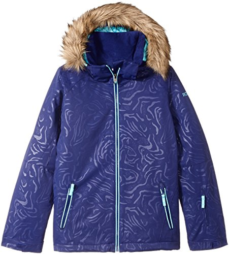 Roxy Big Girls' American Pie Solid Snow Jacket, Blue Print, 14/XL by Roxy