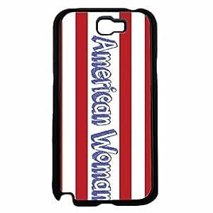 American Woman Plastic Phone Case Back Cover Samsung Galaxy Note II 2 N7100