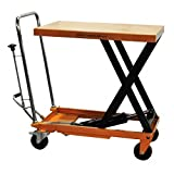 Bolton Tools New Hydraulic Foot Operated Scissor Lift Table Cart Hand Truck - 660 LB of Capacity - 35.4'' Max Height - Model TF30