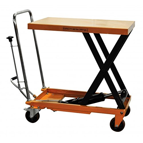 Bolton-Tools-New-Hydraulic-Foot-Operated-Scissor-Lift-Table-Cart-Hand-Truck-660-LB-of-Capacity-354-Max-Height-Model-TF30