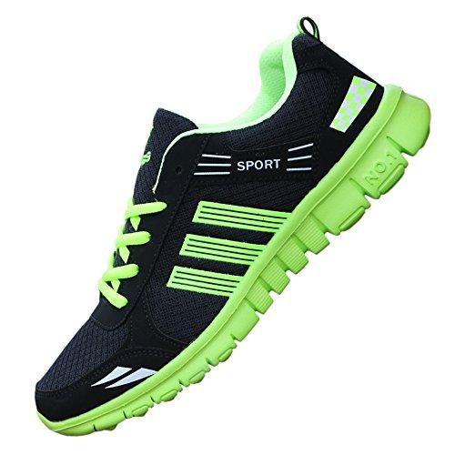 【Topics Garden】 ランニング シューズ メンズ スポーツ スニーカー メッシュ 通気性 運動靴 サイドライン (エコバッグ付き)