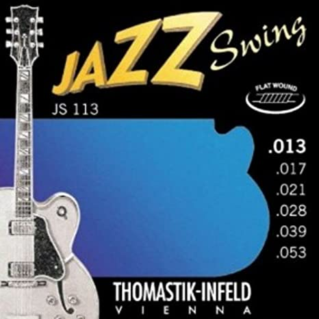 Amazon.com: CUERDAS GUITARRA ELECTRICA - Thomastik (JS/113) Jazz Swing (Juego Completo 013/053): Musical Instruments