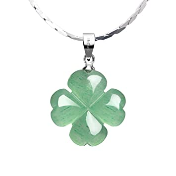 Bling Jewelry Green Crystal 4 Leaf Clover Pendant Sterling Silver Necklace 16 Inches xfYzwaYOxx
