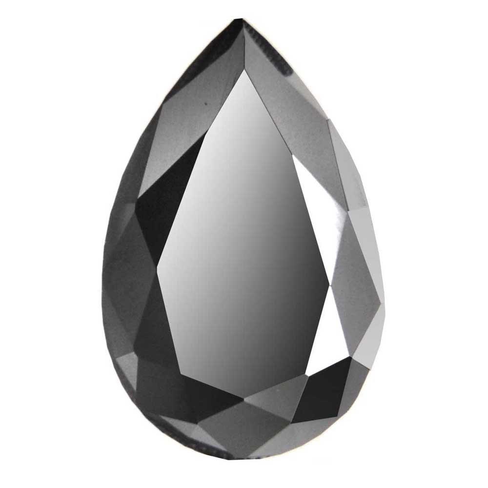 skyjewels Certified 4 Ct Pear Checker Cut Loose Black Diamond