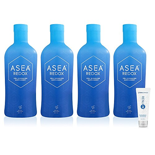 ASEA REDOX Cell Signaling Supplement (4X32 fl. oz. Bottles) with RENU 28 (10mL) Bundle