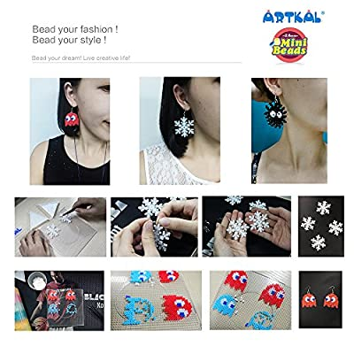 ARTKAL 4 PCS 2.6mm Mini Beads Large Square Pegboards BCP01-4 (NOT for MIDI Beads, for Mini Beads ONLY): Toys & Games