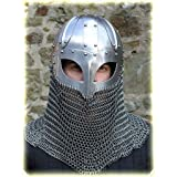 Amazon.com: Viking Helmet Battle Armor 18G Steel and Chainmail: Sports & Outdoors