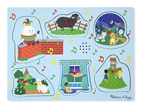 Melissa & Doug Nursery Rhymes 2 Sound Puzzle (6 Piece) (Tools Puzzle Peg)