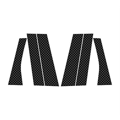 Diamond Mesh Print Vinyl Pillar Post Trim Cover fits: 2007-2014 Mitsubishi Outlander All Models - Ferreus Industries - PIL-074-Diamond-Mesh-089