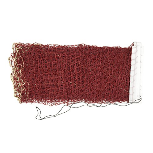 Aoneky Outdoor Replacement Badminton Net, Indoor Standard Regulation Badminton Court Netting Only, 20 x 2.6 ft (Red)