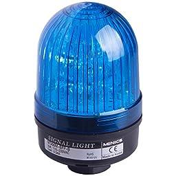 Menics 66mm beacon signal LED light, Direct mount, Steady/Flash/Buzzer, Blue color, 12-24V AC/DC