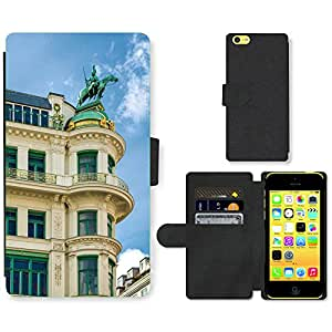 Hot Style Cell Phone Card Slot PU Leather Wallet Case // M00171655 Vienna Austria Building Statue // Apple iPhone 5C