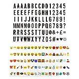 175 Letter Number Emoji Pack Set For Cinematic Plaque A3 A4 Light Up Box Sign