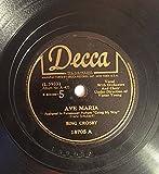 1945 Bing Crosby Ave Maria b/w Home Sweet Home 78 RPM Decca 18705 Going My Way