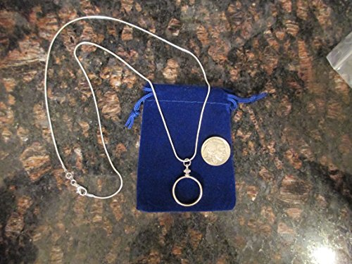 """24""""sterling silver necklace with coin bezel for NICKELS ***Coin Not Included***, Gift Bag"""
