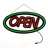 MaxLit 24'' X 12' New Large LED Tube Neon Sign - OPEN - RED/GREEN 3