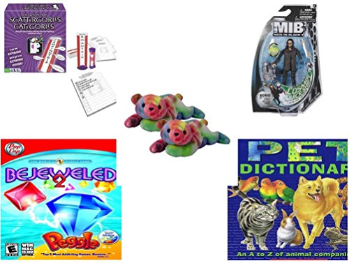 [Children's Fun & Educational Gift Bundle - Ages 6-12 [5 Piece] - Includes: Game - Toy - Plush - Hardcover Book - Paperback Book - No.] (Things That Start With The Letter Z)