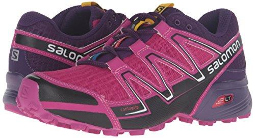 Salomon Women's Speedcross Vario W-W Trail Runner, Deep Dahlia/Black/Cosmic Purple, 10 B US by Salomon (Image #6)