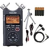 Tascam DR-40 Digital Audio Recorder Bundle - Tripod, Earbuds