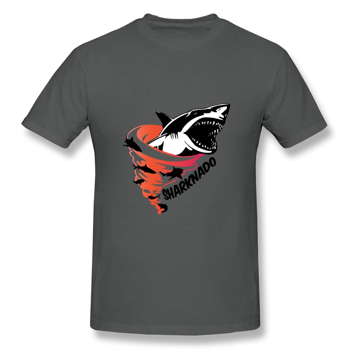 Qinhuangdao New Logo /· SharknadoMens Basic Short Sleeve T-Shirt Deep Heather