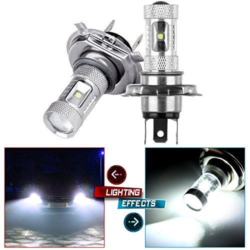 CCIYU 2 Pack High Power Xenon White 60W H4 9003 LED Fog Light Projector - Infiniti I30 Projector