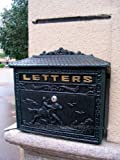 Hunter Cast Iron Vintage Colonial Style Mailboxes (Verde Green)