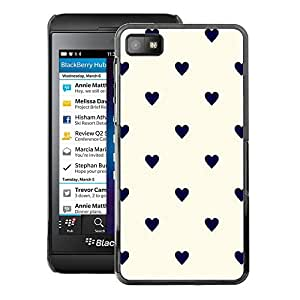 A-type Arte & diseño plástico duro Fundas Cover Cubre Hard Case Cover para Blackberry Z10 (Polka Dot Black Beige White)