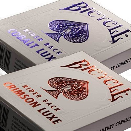 (Ship from USA) MetalLuxe Crimson and Cobalt Bicycle Playing Cards (2 Pack one each color) -ITEM#: G15/uiF982A24303 by Generic