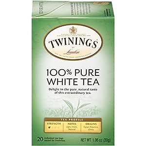 Twinings of London Fujian Chinese Pure White Tea, 20-Count Tea Bags (Pack of 6)