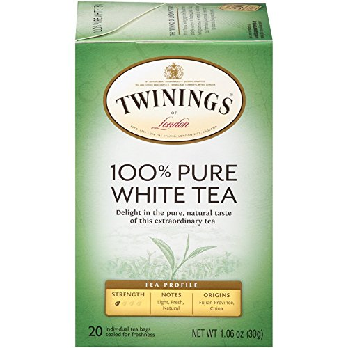 Twinings Fujian Chinese Pure White Tea, 20-Count Tea Bags (Pack of 6) (Best White Tea Bag Brands)