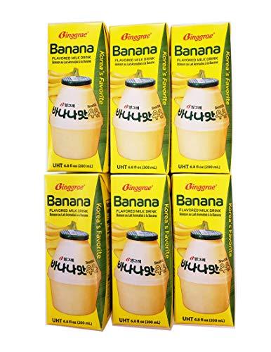 Binggrae Banana Flavored Milk Drink 6 Packs