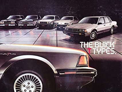 Buick T Type >> Amazon Com 1983 Buick T Type Sport 12 Page Sales Brochure