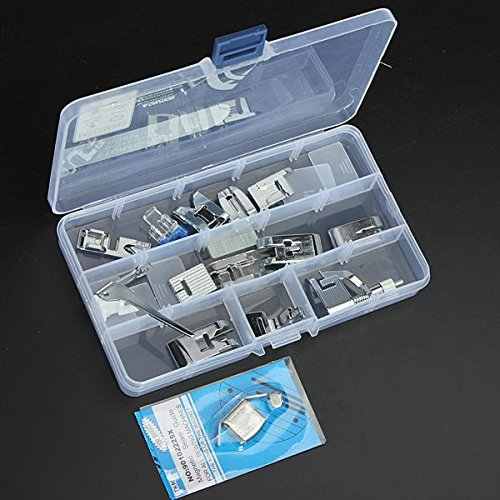 OAGTECH 15 Pcs Sewing Machine Kit Foot Feet Accessory Set For Janome Toyota