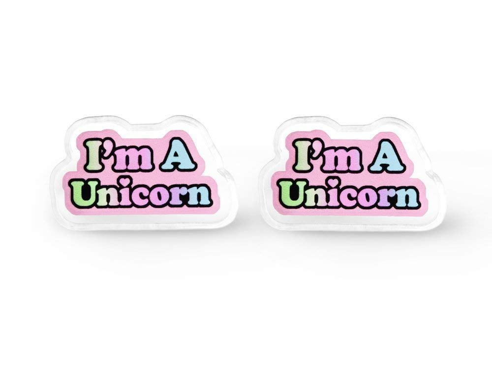 Tiny I'm A Unicorn Earrings - Rainbow Unicorn, Fairy Kei, Aesthetic, Pastel Grunge, Soft Grunge 3