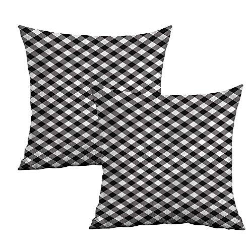 - Khaki home Abstract Square Throw Pillow Covers Vintage Monochrome Stripes Square Pillowcase Protector Cushion Cases Pillowcases for Sofa Bedroom Car W 16
