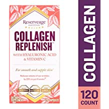 Reserveage - Collagen Replenish Caps with Hyaluronic Acid, Supports Radiant Skin, 120 Capsules