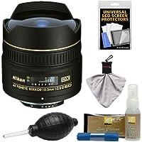 Nikon 10.5mm f/2.8G ED DX AF Fisheye-Nikkor Lens with Cleaning & Accessory Kit for D3100, D3200, D3300, D5100, D5200, D5300, D7000, D7100 DSLR Cameras